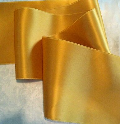 """2-3/4"""" Wide Swiss Double Face Satin Ribbon-  Olde Gold"""