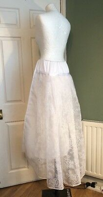 Vintage Unusual 1960s White Wedding Underskirt Petticoat Unusual