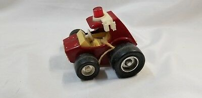 Vintage Buddy L Red Fire Buggy with Emergency Light, Late 70s Early 80s Toy