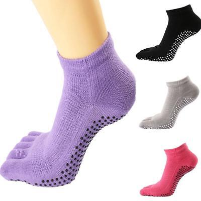 2019 Women Anti Slip Socks Five Fingers Yoga/Dance Cotton Gym Sports 4 ·Colors