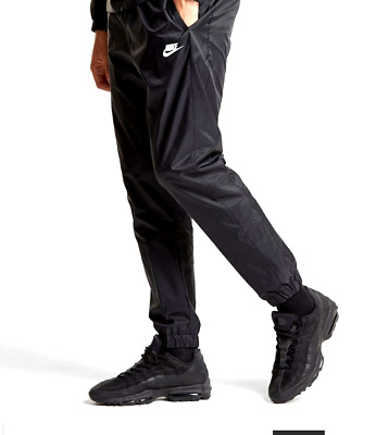 nike shiny wet look glanz  silky nylon black   track sport  pants  BNWT  mens