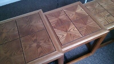 Rare GPlan Parquetry Nest of 3 Tables ☆ Vintage  ☆ 60s/70s