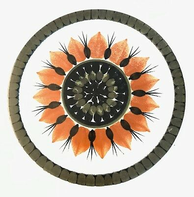 Arabia Finland Vtg Mid Century Modern Pottery Flower Plate Charger