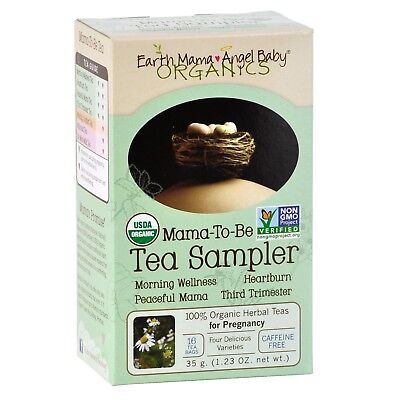 Earth Mama Angel Baby-Mama To Be Tea Sampler- Pregnancy-Nausea-Heartburn