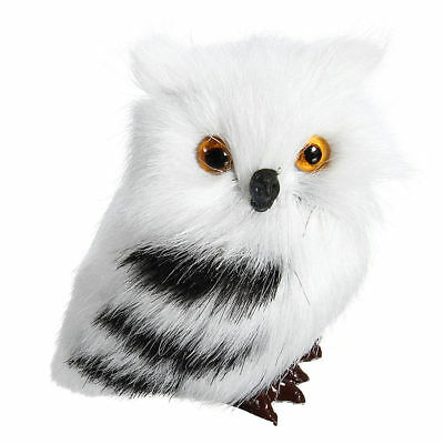 1/2pcs Simulation Owl Ornament White Black Furry Decoration Christmas Gifts
