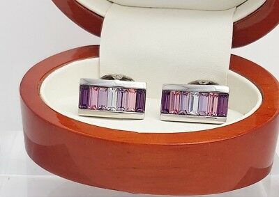 Ian Flaherty Designer cufflnks Amethyst crystal cufflinks,men's accessories
