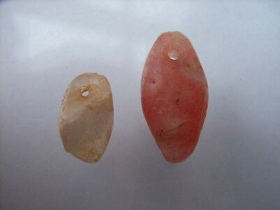 2 Ancient Neolithic Agate, Carnelian Amulets, Stone Age, VERY RARE !!
