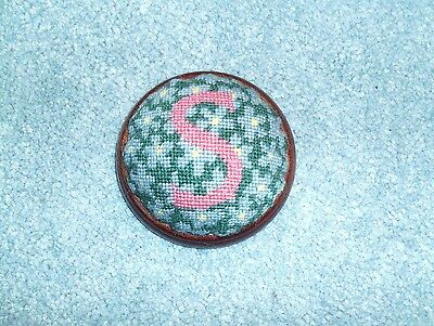 Hand made tapestry top pincushion