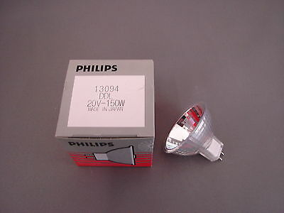 1 St. Philips Halogenlampe Projektor  20V 150W GX5,3  13094  DDL  Projectorlampe