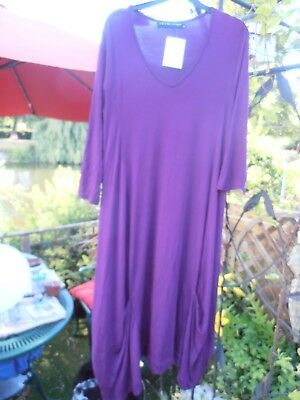 Join Clothes Jersey Dress with Gathered Hem Detail NEW PURPLE rrp £126.00 MEDIUM