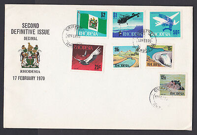 Rhodesia 1970 2Nd Definitive Issue Fdc
