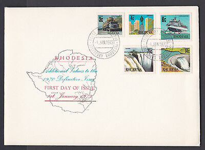 Rhodesia 1973 Additional Definitive Values Fdc