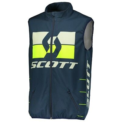 Vest Cross Scott Gilet Enduro Blu Giallo Antivento Tg L