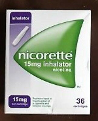 NICORETTE INHALATOR 15mg WITH 36 CARTRIDGES (BRAND NEW)
