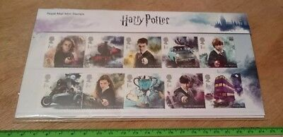 Harry Potter Royal Mail 2018 Stamps 10 Stamp Presentation Pack New