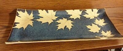 Kaleidoscope clay Pottery RARE serving platter dish