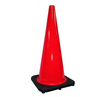 "Orange Traffic Safety Cone 28"" With Black Base. Brand New!"