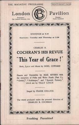 London Pavilion Theatre Program Cochran 1928 Revue Tallulah Bankhead Noel Coward