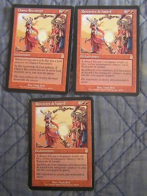 Magic : Rencontre de Hasard - Chance Encounter x3 - Odyssée - Rare - NM