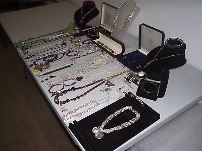 Large Job Lot Of Vintage & Costume Jewellery Necklaces Bracelets Earrings (V)