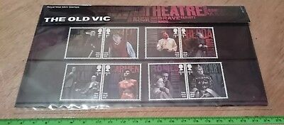 The Old Vic Royal Mail Mint Stamps, 8 Stamp Presentation Pack New 2018