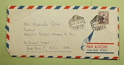 DR WHO 1950 SPAIN TANGIER AIRMAIL TO USA  d67745