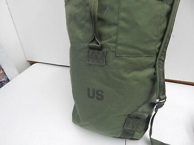 US GI Military Duffel Bag Nylon Army Navy Air Force Marines - Green Olive Drab