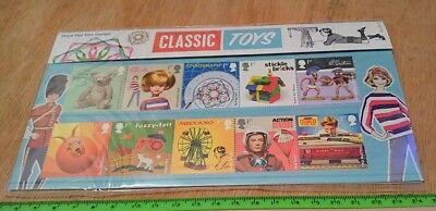 CLASSIC TOYS Royal Mail Mint Stamps, 10 Stamp Presentation Pack New 2017