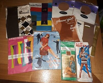 job lot of vintage stockings and tights. All in original packaging