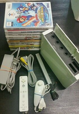 Nintendo Wii White Console with Games, Gamecube Compatible System TESTED