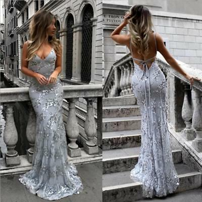 Women Formal DressWedding Bridesmaid Long Evening Party Ball Prom Gown Cocktail