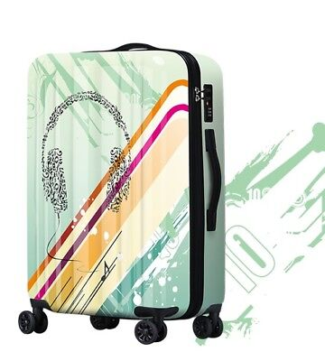 D833 Lock Universal Wheel ABS+PC Travel Suitcase Cabin Luggage 20 Inches W