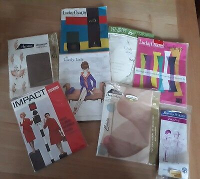 job lot of vintage stockings and tights in original packaging