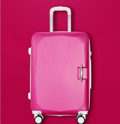 D848 Rose Red Universal Wheel ABS Coded Lock Travel Suitcase Luggage 20 Inches W