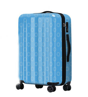 D740 Wave Point Art Universal Wheel ABS+PC Travel Suitcase Luggage 20 Inches W