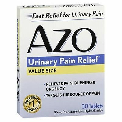 Azo, Standard Urinary Pain Relief Tablets, Analgesic - 30 Count EXP 08/2019
