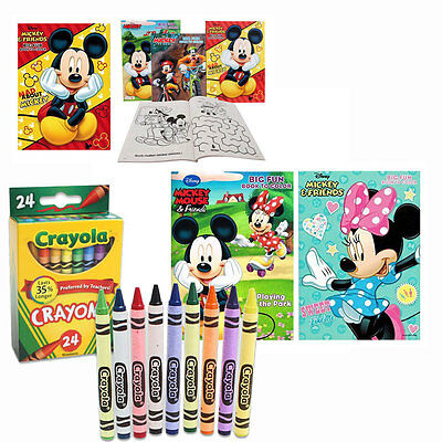 4 MICKEY MINNIE MOUSE Disney Jumbo Coloring Activity Books, for Children + BONUS