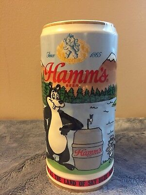 Hamms 1990 Holiday Beer Stein Numbered Limited Edition House of Wiebracht USA