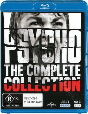 Psycho (Complete Collection) NEW Arthouse Blu-Ray 8-Disc Set Alfred Hitchcock