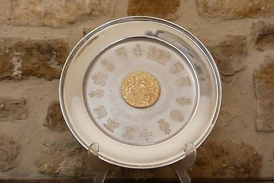 Silver Commemorative Plate The Queens Silver Jubilee 1952 1977 College of Arms