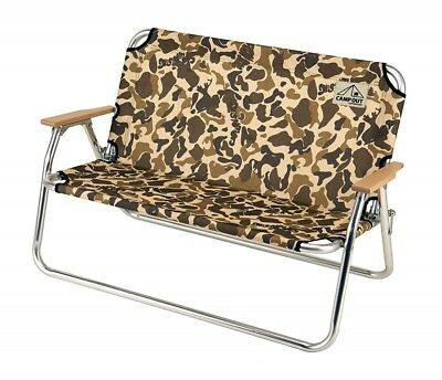 CAPTAIN STAG Bench Camp Out Aluminum Bback Bench Camouflage New Fast Shipping