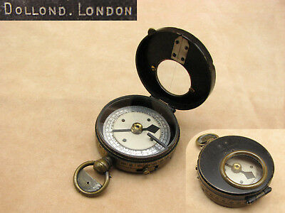 Late 19th century Dollond early verners style marching compass.