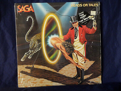 Saga / Heads or Tales LP 1983 Portrait Records Rupert Hine in shrink EX!