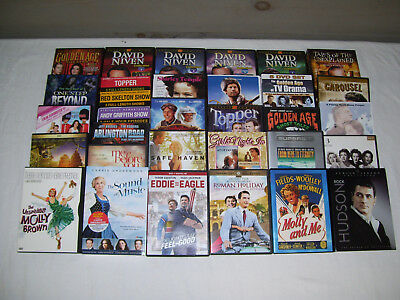 Lot of 32 DVDs Drama, Horror, Adventure, Classic Movies & TV Personal Collection