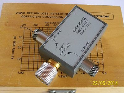 ANRITSU WILTRON microwave sweep SWR bridge  2-18 ghz 87A50-1 as NEW in wood box