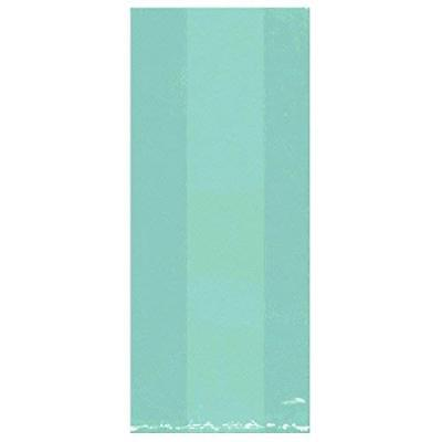 Amscan 25: Robin Egg Blue Large Cello Party Bags