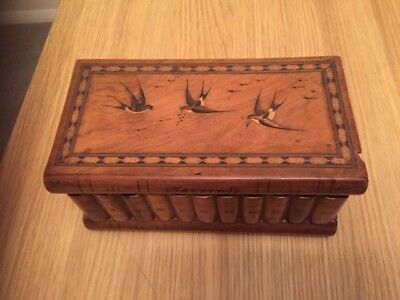 Sorrento ware jewelry box with secret access and original key