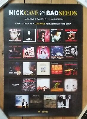 Nick Cave & The Bad Seeds Remasters LP Official Promo Poster Birthday Party