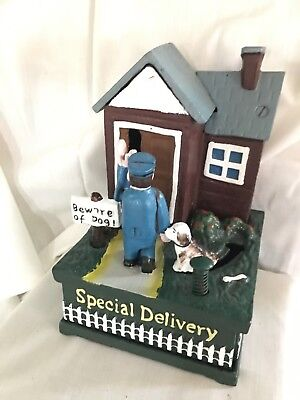 cast iron SPECIAL DELIVERY mechanical bank  vintage