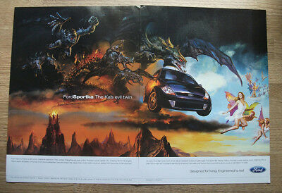 Ford SportKA - THE KA'S EVIL TWIN -  Vintage Original CAR poster ADVERT